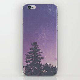 Purple Pines iPhone Skin