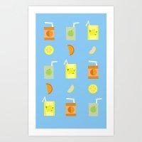 Juice Pattern Art Print