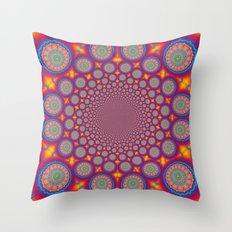 BBQSHOES: Wheels Of Time II Fractal Mandala Throw Pillow
