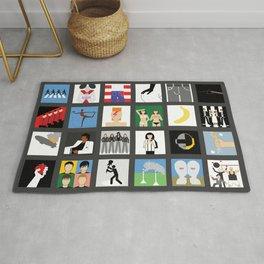 Music album collection Rug