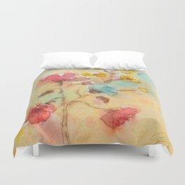 Vintage flowers (watercolor) Duvet Cover