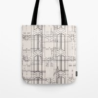 blueprint Tote Bags featuring Blueprint by hoopderscotch