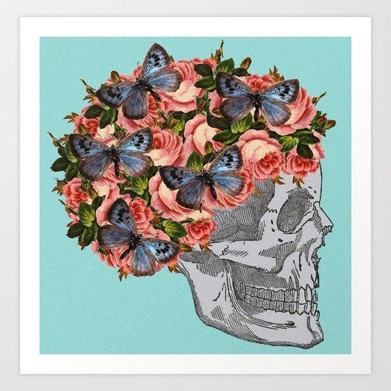 Skelegirl Art Print