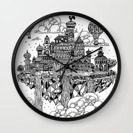 Floating city Wall Clock