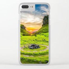 Fairytale Landscape, Isle of Skye, Scotland Clear iPhone Case