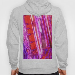 Candy Striped Red & Purple Quartz Hoody
