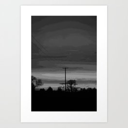 SUNSET 4 Art Print
