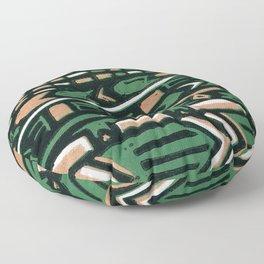 Tribal lino print  Floor Pillow