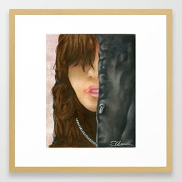 Who's That Girl? Framed Art Print