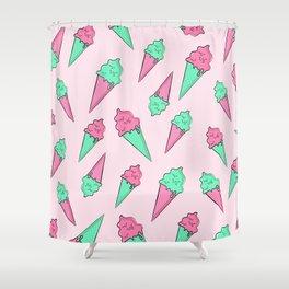 Pastel Ice Cream Cones Shower Curtain