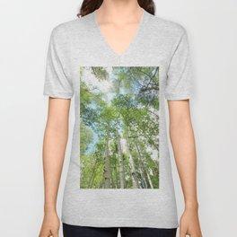 Aspen Trees Unisex V-Neck