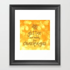 She is bright Framed Art Print