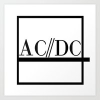 acdc Art Prints featuring Classy Rockers by blairartisan
