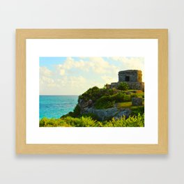 Temple of the Wind God in the Yucatan Framed Art Print