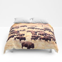 Buffalo Roundup at Custer State Park Comforters