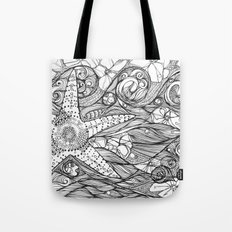 Starfish went out swimming Tote Bag