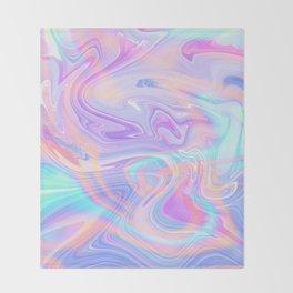 Iridescent Marble Texture Throw Blanket