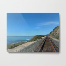 Costal Train Tracks Metal Print