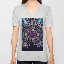 Colorful Sacred Geometry Mandala Pattern Unisex V-Neck