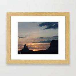 Monument Valley Sunrise Framed Art Print