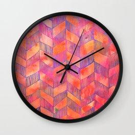PATTERN {Chevron 012} Wall Clock