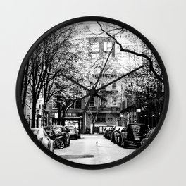 Tree Lined Streets in New York City Wall Clock