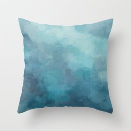 Mint, Aqua, Turquoise, Navy, Blue, Nautical Wall Art, Abstract Art Prints, Wall Decor, Abstract Painting, Modern Minimal Art Throw Pillow