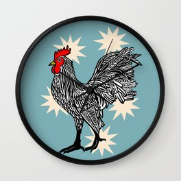 Prize Rooster Wall Clock