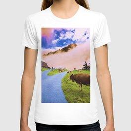 Mountain cow T-shirt