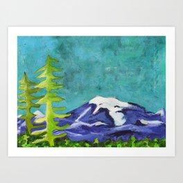 Rocky Mountain Winter Landscape Art Print