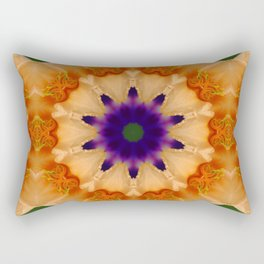 Daylily mandala 3 Rectangular Pillow