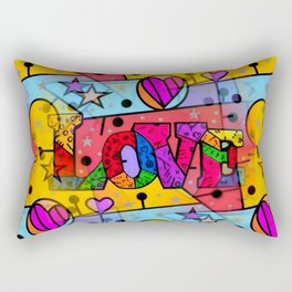 Love Popart by Nico Bielow Rectangular Pillow