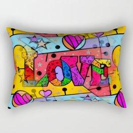 Love Popart by Nico Bielow Rectangular Pillow