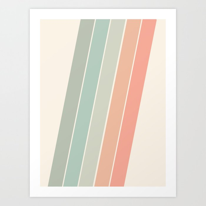 Trippin' - retro 70s socal minimal striped abstract art california surfing vintage Kunstdrucke