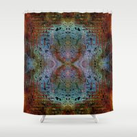 code Shower Curtains featuring Code II by RingWaveArt