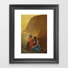mother stands for comfort Framed Art Print