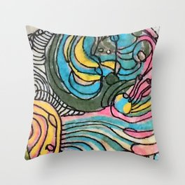 Clamshell Seaweed Throw Pillow