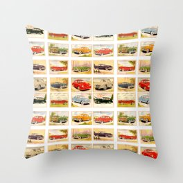 Vintage Rides Throw Pillow