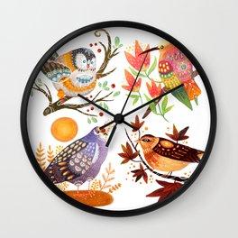 Seasonal Birds Wall Clock