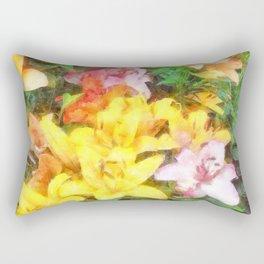Lilies Love and Light Rectangular Pillow