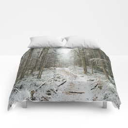 For now I am Winter - Landscape photography Comforters