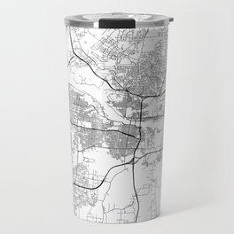 Minimal City Maps - Map Of Little Rock, Arkansas, United States Travel Mug