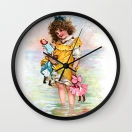 My Dollies and Me Wall Clock