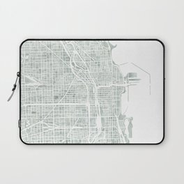 Map Chicago city watercolor map Laptop Sleeve