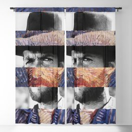 Van Gogh's Self Portrait & Clint Eastwood Blackout Curtain