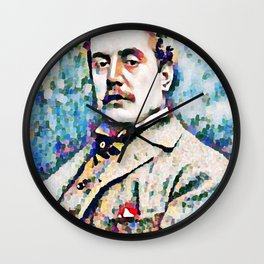 Giacomo Puccini (1858 – 1924) digitized photography Wall Clock