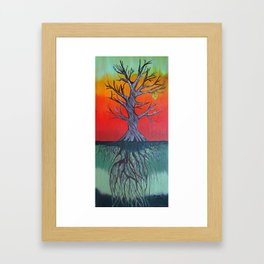 Life Above and Below Framed Art Print