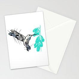 Hummingbird geometric Stationery Cards