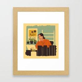Home Desk Framed Art Print