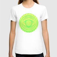 yellow pattern T-shirts featuring Green/Yellow Ombre Pattern by Lyle Hatch